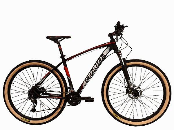 Bicicleta Aro 29 Redstone Aborygen 27V Preto/Vermelho/Cinza