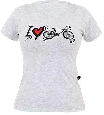 Camisa Casual Marcio May Feminina I Love Bike Mescla