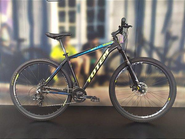 Bicicleta Aro 29 Usada Totem T19 21V Preto/Azul/Amarelo