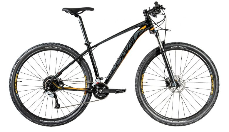 Bicicleta Aro 29 Oggi Big Wheel 7.1 (2020) Preto/Laranja/Grafite