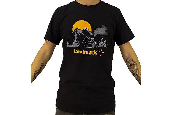 Camisa Casual Landmark Casa Montanhas Preto Reativo