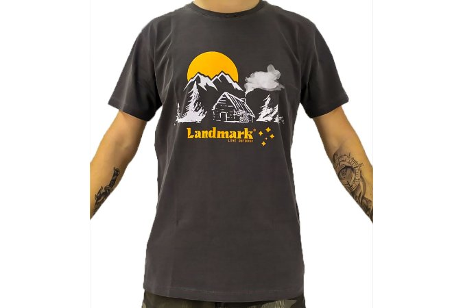 Camisa Casual Landmark Casa Montanhas Chumbo