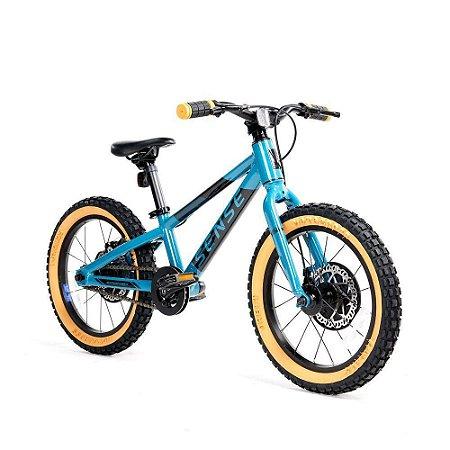 Bicicleta Aro 16 Sense Grom Aqua e Preto