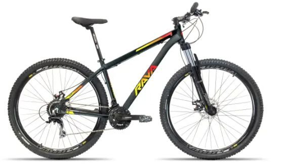 Bicicleta Aro 29 Tsw Rava Pressure 24V Preto/Vermelho/Amarelo Mecanico