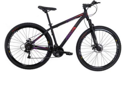 Bicicleta Aro 29 Tsw Rava Pressure Preto/Vermelho/Violeta 24V Mecanico