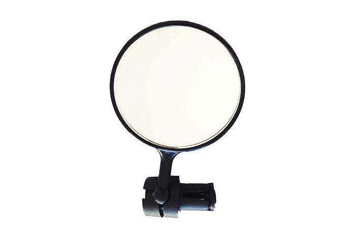 Espelho Liso Com Regulagem (7.5cm Redondo) Preto