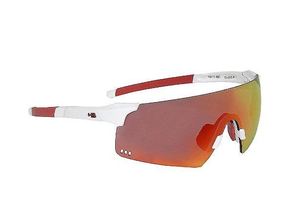 Oculos HB Quad R Pearled White Red Chrome