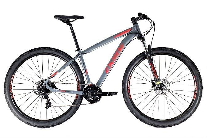 Bicicleta Oggi HDS Grafite, Vermelho e Preto