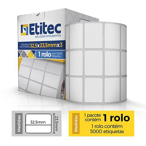 Etiqueta 32,5x23,5 - 3 Colunas - Etitec