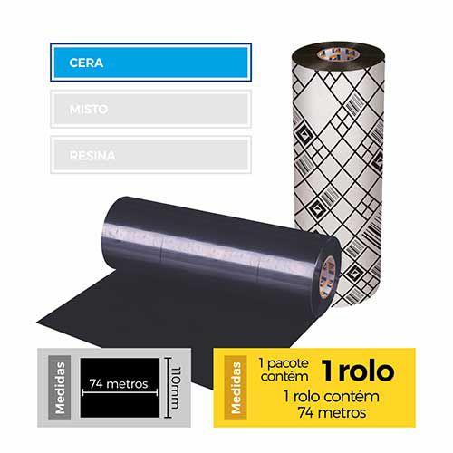 Fita para Impressão (Ribbon) Cera Premium 110x74 - Etitec