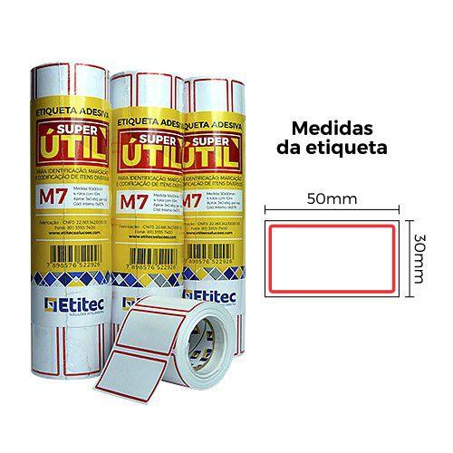 Etiqueta Super Útil M7 - Etitec
