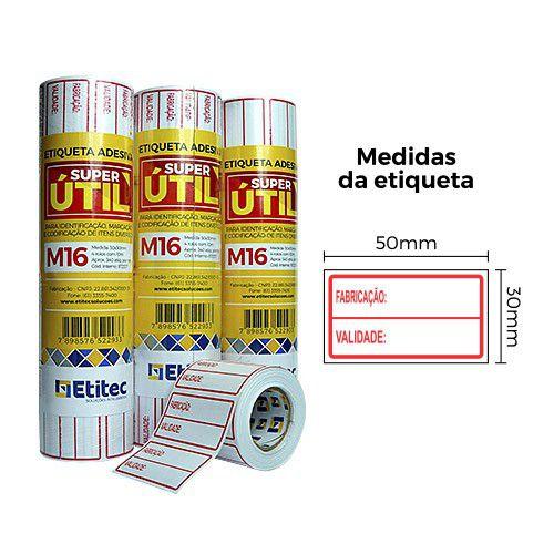Etiqueta Super Útil M16 - Etitec