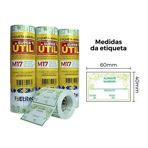 Etiqueta Super Útil M17 - Etitec