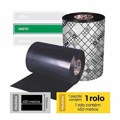 Fita para Impressão (Ribbon) Misto Premium 110x450 - Etitec