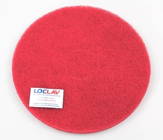 Disco abrasivo para limpeza vermelho 350 para enceradeira