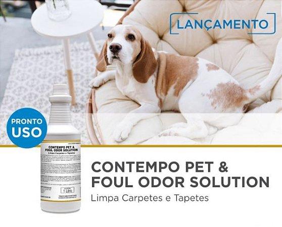 Limpador com ação alvejante e neutralizadora Contempo Per & Foul Odor Solution para cães e gatos
