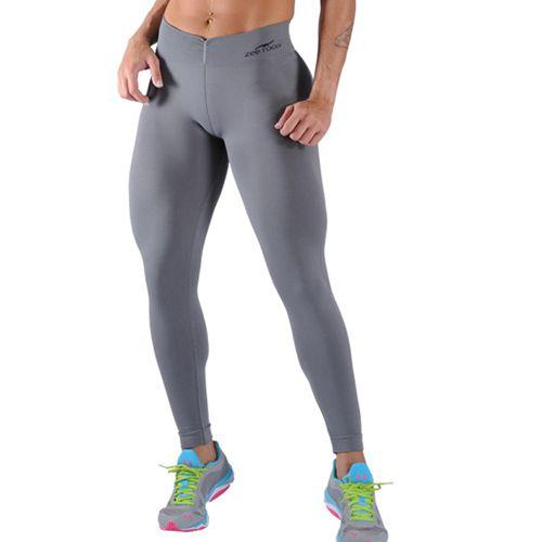 Calça Legging Fitness Sem Costura Cinza