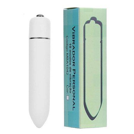 Vibrador Cápsula 10 Vibrações Potente e Discreto Branco