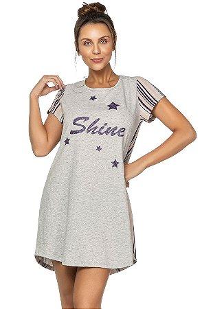 Camisola Stripes and Stars em Algodão Cinza - 2908