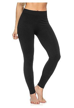 Calça Legging Sem Costura Fit Preta - 6011