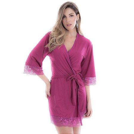 Robe Feminino em Microfibra Roxo - 4001