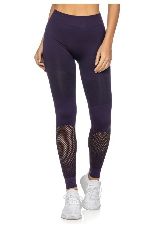 Legging Fitness Sem Costura Highlight Roxa - 6003