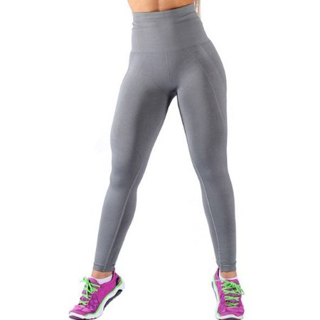 Legging Fitness Modeladora Sem Costura Cinza - 0501