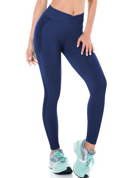 Legging Fitness Sem Costura Azul Marinho - 0307