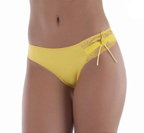 Calcinha com Detalhe em Renda Amarela - 2485