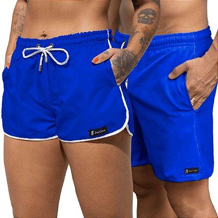 Short Jon Cotre Azul Kit Casal