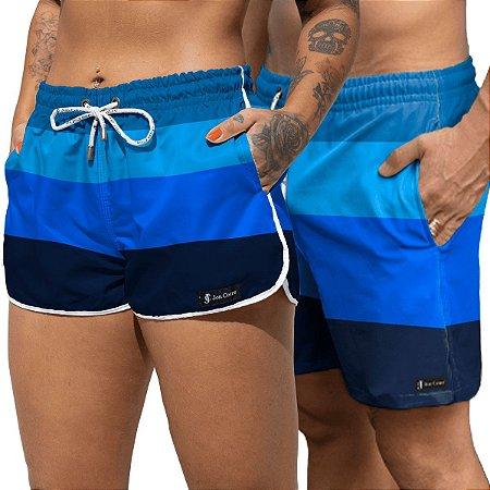 Short Jon Cotre Blue Summer Kit Casal