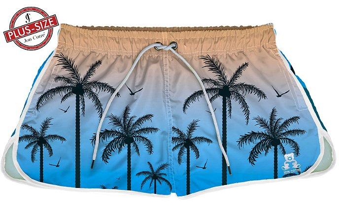 Short Bermuda Jon Cotre Plus Size Feminino Summer