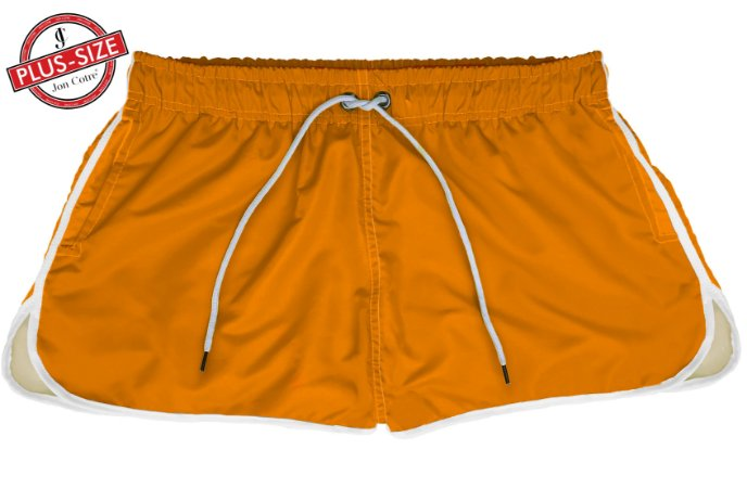 Short Jon Cotre Plus Size Feminino Neon Laranja