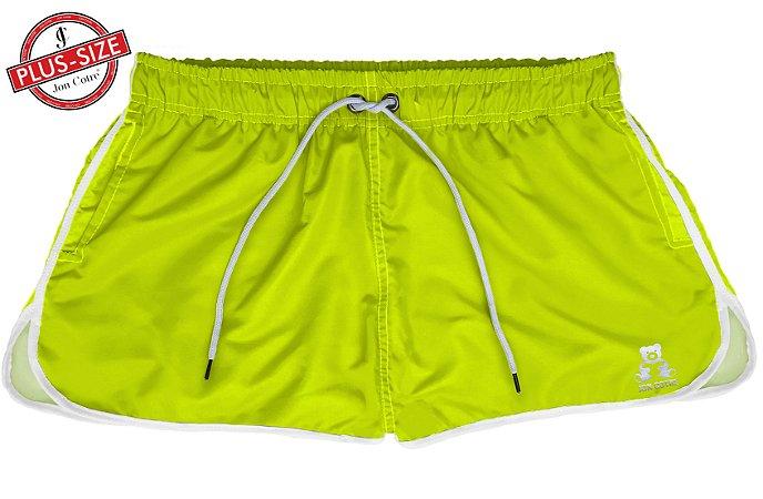 Short Bermuda Jon Cotre Plus Size Feminino Neon Verde