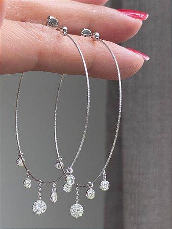 Argola Snow Diamantes