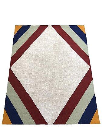 Tapete Losango lã acrilica 1,50 X 1,90