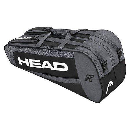 RAQUETEIRA HEAD CORE 6R COMBI - PRETO
