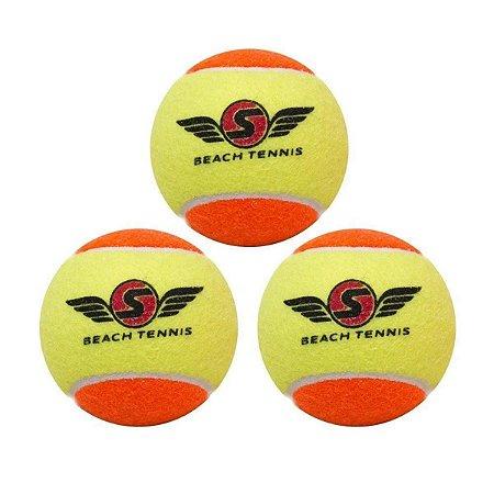 Bola de Beach Tennis SEXY com 3 unidades