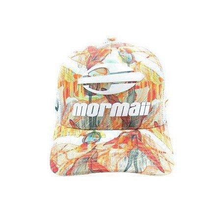 BONE MORMAII - LARANJA FLORAL