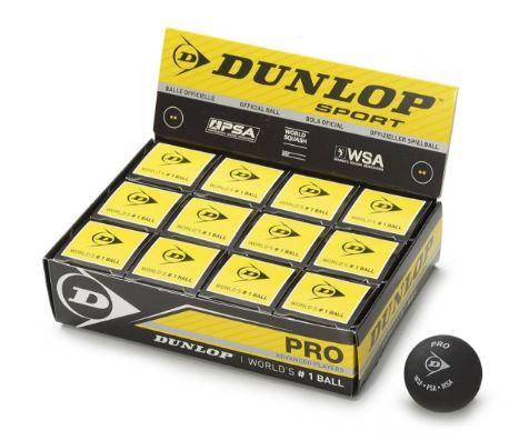 Caixa de Bola de Squash Dunlop Revelation Pro XX com 12 Unidades