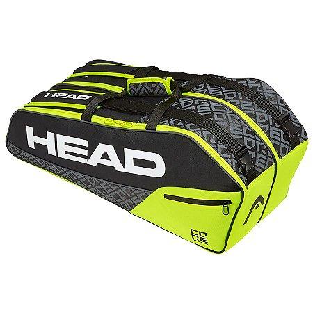 Raqueteira Head Core 6R Combi New - Preta e Amarela