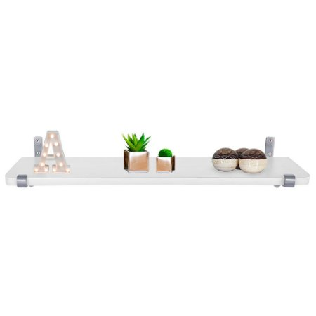 Prateleira Zurique 60 x 15 - Prata/Branca