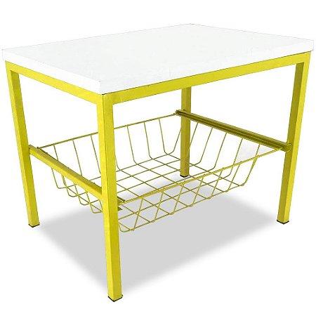 Suporte de Bebedouro Mini Vancouver - Amarelo/Branco