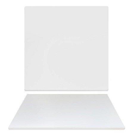 Tampo de Mesa de Jantar em Mdf Quadrado 70cm X 15mm na Cor Branco