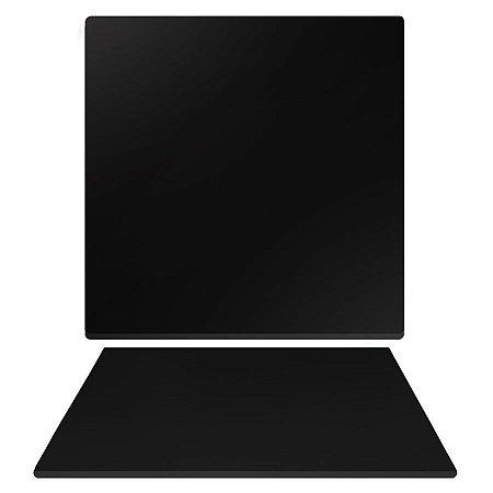 Tampo de Mesa de Jantar em Mdf Quadrado 80cm X 15mm na Cor Preto