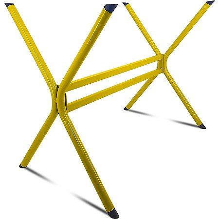 Base de Mesa de Jantar Retangular Escócia 140 x 80 - Amarela