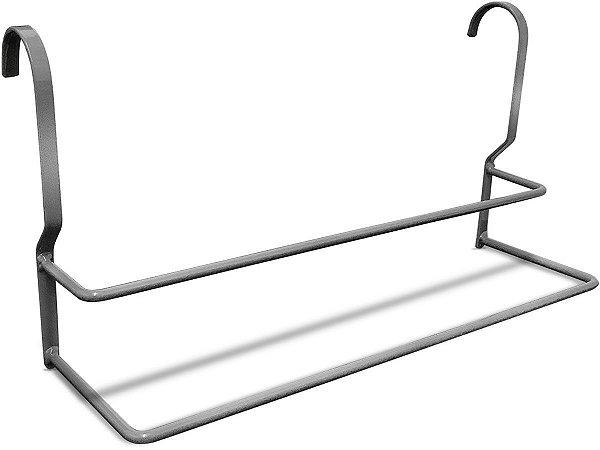 Toalheiro Suporte para Toalha de Banho Rosto para Banheiro Arizona - Prata