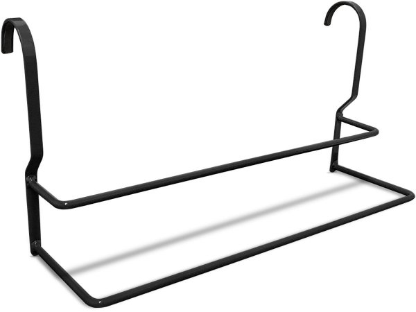 Toalheiro Suporte para Toalha de Banho Rosto para Banheiro Arizona - Preto