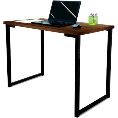 Mesa para Escritório Escrivaninha Estilo Industrial Nova York Mdf 120cm - Preta e Villandry