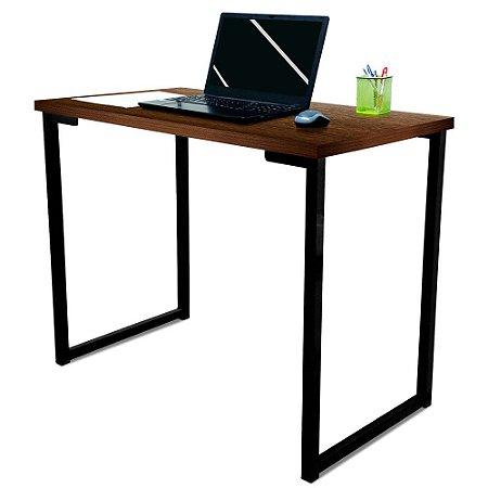 Mesa para Escritório Escrivaninha Estilo Industrial Nova York Mdf 100cm - Preta e Villandry